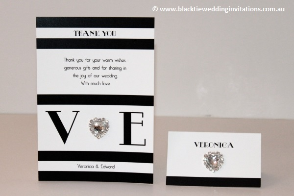 new york - thank you card and place card