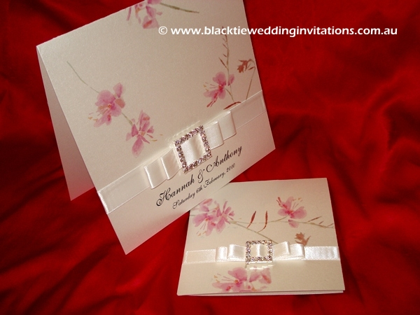 wedding invitation pastel bloom