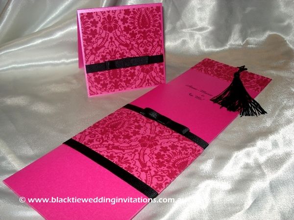 wedding invitation raspberry indulgence