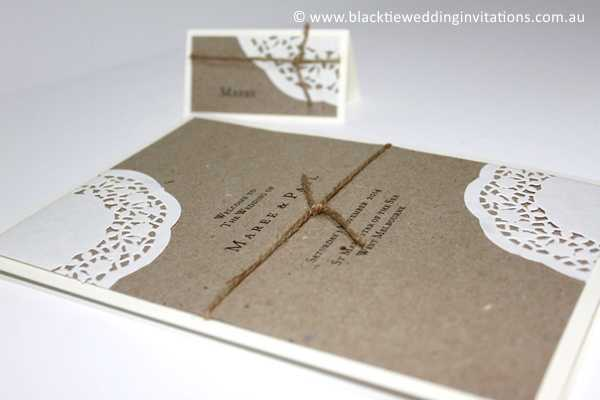 sentimental service booklet and place card