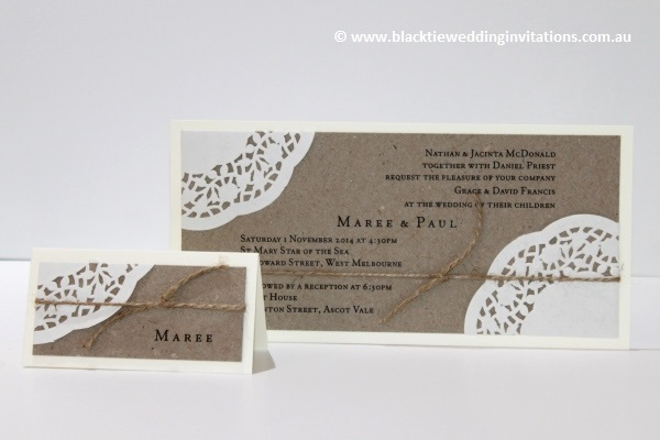 sentimental place card and invitation