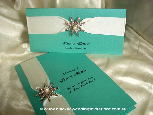 wedding invitation tiffany blue