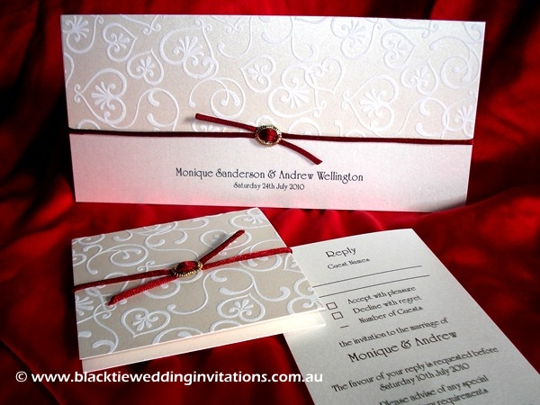 wedding invitation truly madly deeply
