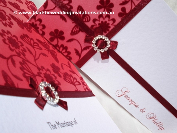 wedding invitation velvet spring