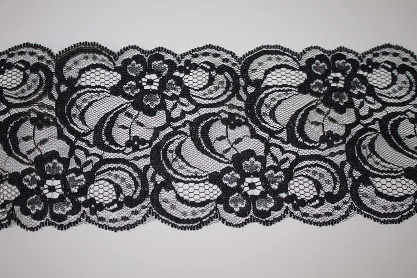 Black Scalloped Lace