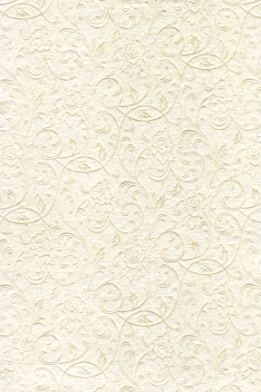 Embossed Metallic Cream Floral