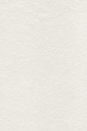 Embossed Metallic Ivory Botanica