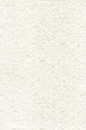Embossed Metallic Ivory Floral
