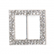 Large double rimmed square buckle